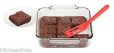 "Silicone 8"" Brownie Spatula Steel Core Cookies/Desserts/Casseroles Non-Scratch"