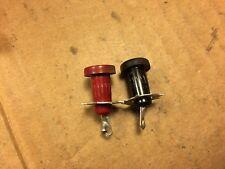 Nice Vintage pair of Test Probe Jacks Red Black 1958 Tube Amplifier Bias Test