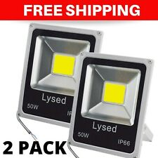 2 Pack 50W LED Flood Light 4000LM Outdoor IP66 Waterproof Bright Security Lights