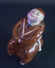 Keramikfigur ruhender Mönch  um 1920/30 - Anzengruber Bosse Gmunden