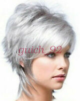 2018 Fashion wig New Charm Women's Short Silver Gray Full wig/wigs beauty