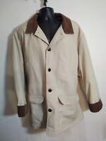 LL Bean Men's Tan Canvas Barn Field Chore Jacket Coat Size XXL thinsulate