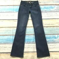 """Refuge Womens Jeans size 2 Long Tall Slim Bootcut  x33"""" Dark Wash Cotton Stretch"""