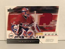UPPER DECK 2002-03 FIRST CLASS JOSE THEODORE UD-JT GAME USED JERSEY CANADIENS!