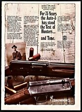 1978 Browning Auto-5 Shotgun Print Ad shown w/ 1903 model