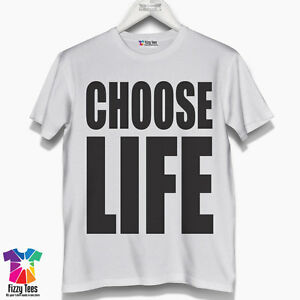 Men's Choose Life T-Shirt - Inspired Wham T Shirt fancy dress