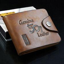 LK _ EG_hommes à la mode cuir à deux volets porte carte argent Etui Support fin