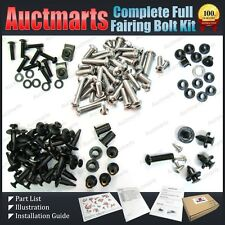 Auctmarts Full Fairing Bolt Kit for Honda Suzuki Kawasaki Yamaha Bundle GB