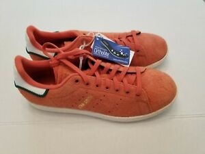 NEW adidas Originals STAN SMITH CQ3091 Hairy Suede Trace Orange Shoes Size 7