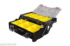244 US Pro tools Organiser Tool Box Case Compartment Tubs Screws Bolts Storage
