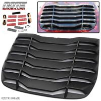 Rear Windshiled Louvers Cover ABS Fits For 2009-2019 Nissan 370Z Matte Black