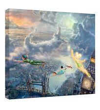 Beautiful Thomas Kinkade Disney Tinkerbell & Peter Pan Small Canvas