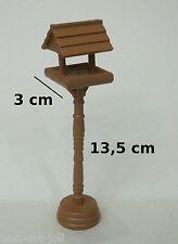 mangeoire pour oiseaux en bois, miniature pour maison de poupée, vitrine  M2
