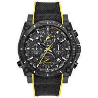 Bulova Precisionist Chronograph Calendar Men's 262kHz Quartz 46.5mm Watch 98B312