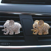 Crystal Elephant Styling Car Perfume Clip Air Outlet Accessories Air Freshener >