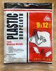 Plastic Drop Cloth ~ Trimaco ~ 9' X 12' ~ NIP ~ #03303