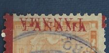 ERROR 1906 PANAMA OVERPRINT STAMP, PRINTED TWICE FACING OPPOSITE DIRECTIONS