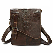 Small Waist Packs Leather Belt Bag For Men Casual Style Cross-body Shoulder Bags