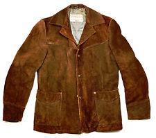 Schott Rancher vintage Classic Western vaquero de gamuza chaqueta marrón 48 M