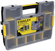 Black//Yellow STANLEY ABS Adjustable Compartment Box,Plastic,Black STST14027
