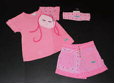 Naartjie Pink Soul Ethno Floral Mermaid Top~Lawn Shorts~Headband 3pc Set Size 6