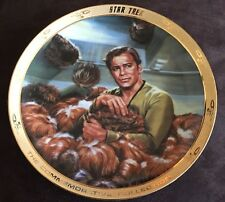 "1986 Ernst  Star Trek Porcelain Collectors Plate ""The Trouble with Tribbles"" LE"