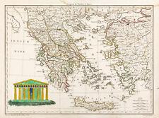 1812 Carte ancienne Grèce antique, Malte-Brun Lapie. Antique map ancient greece
