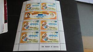 NEVIS 1983 SG 027BW INVERTED SHEET MNH (A)