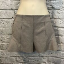 Free People Sz 0 Grey Fitted High Waisted Flare Shorts