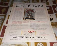 Little Jack Fortune Gumball Slot Trade Stimulator Machine Flyer original