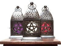 New Pentagram Pentacle Stars Ritual Lantern/Tea Light Holder Wiccan Pagan Gothic