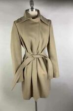 United Colors of Benetton Beige Wool Blend Long Sleeve Belted Coat 44/8