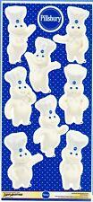 "NEW Sheet of 8 Pillsbury Doughboy Poppin Fresh 3"" Tall Stickers 1 Bonus Sticker"