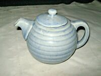 A Very Rare Art Deco Australian Pottery Blue Glaze Beehive Teapot with markings