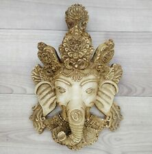 Ganesha Mask with Painting Work Wall hanging Art Sculpture wall Decor Religious