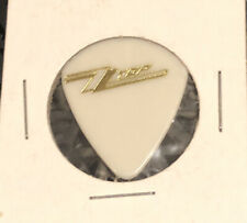 Zz Top Guitar Pick Dusty Hill Pleaser 1990 Recycler Tour Gold On White