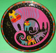 �Laurel Burch ~Feline Family Cat Plate~ Franklin Mint Tray Bone China 24k Gold�