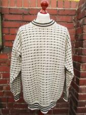 L - Vintage Janus Mens Norwegian Wool Knit Jumper Nordic Retro - D217