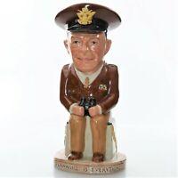 🍁 Wilkinson WW2 Leaders Toby Jug General Dwight Eisenhower 34th U.S. President