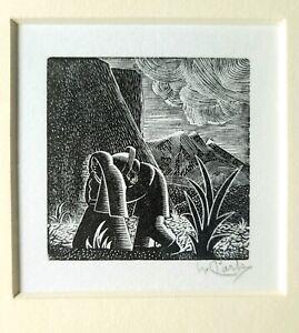1992 Willard Clark ORIGINAL PRINT Mexican ART Etching from Matteucci Gallery