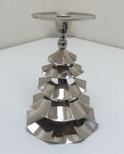 Stainless Steel Christmas Tree Taper/Pillar Candle Holder 7""