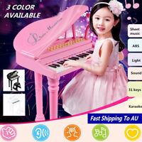 31 Keys Children Kids Electronic Keyboard Piano Microphone Stool Musical