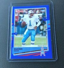 2020 Donruss Warren Moon PRESS PROOF BLUE