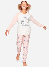 *NWT* JUSTICE GIRLS 8 10 12 SLEIGH ALL DAY ANIMAL FRIENDS COZY FLEECE PAJAMA SET