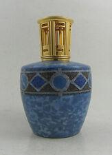 LAMPE BERGER en Grès Bleu décor Ethnique VINTAGE 1980