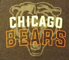 NEW 2XL GRAY & BLACK LONG SLEEVE  NFL CHICAGO BEARS  GRAPHIC CREW PULL OVER