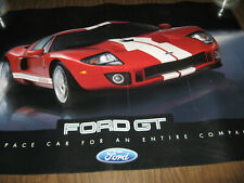 FORD GT CAR POSTER 24 X 36  DOUBLE  SIDED