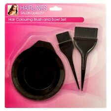 Hair Coloring Brush & Bowl 3 Pcs Set Tint Tool Bleach Dye Color Dying Brushes !