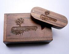 Personal Walnut Wood Rotate USB 2.0 Flash Drive Customize For Photography Studio