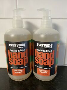 Lot 2 Everyone for Everybody Hand Soap LIMITED Cinnamon + Coconut 12.75oz Each